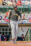 22 March 2015: Pittsburgh Pirates outfielder Gregory Polanco at bat during a Spring Training game against the Houston Astros at Osceola County Stadium in Kissimmee, Florida. The Astros defeated the Pirates 14-2 in Grapefruit League play. Mandatory Credit: Ed Wolfstein Photo *** RAW (NEF) Image File Available ***