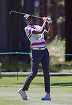 Ray Allen swings during the ACC Golf Tournament at Edgewood Tahoe Golf Course in South Lake Tahoe on Sunday, July 14, 2019.