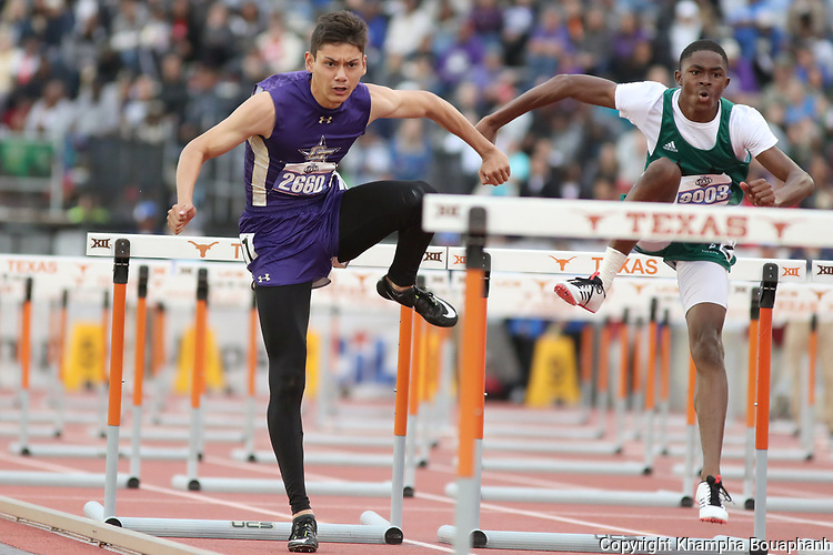 Chisholm Trail competes in the 5A UIL State Track & Field meet in Austin on Friday, May 10, 2019. (Photo by Khampha Bouaphanh)