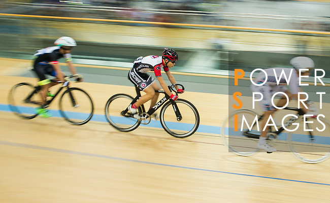 Tse Ho Yan (2nd left) of SCAA competes in the Omnium category during the Hong Kong Track Cycling Race 2017 Series 6 at Hong Kong Velodrome on 12 March 2017, in Hong Kong, China. Photo by Marcio Rodrigo Machado / Power Sport Images