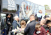Fans greet the arrival of the Manchester City team bus ahead of kick-off at Turf Moor<br /> <br /> Photographer Rich Linley/CameraSport<br /> <br /> The Premier League - Burnley v Manchester City - Sunday 28th April 2019 - Turf Moor - Burnley<br /> <br /> World Copyright © 2019 CameraSport. All rights reserved. 43 Linden Ave. Countesthorpe. Leicester. England. LE8 5PG - Tel: +44 (0) 116 277 4147 - admin@camerasport.com - www.camerasport.com