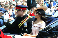 Duke and Duchess of Sussex<br /> Trooping the Colour, at Buckingham Palace, London, England, UK  June 09, 2018.<br /> CAP/GOL<br /> &copy;GOL/Capital Pictures