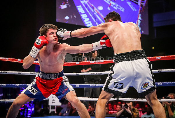 LAS VEGAS, NV - May 1: ***HOUSE COVERAGE***  Zewsky vs Ponomarev pictured at Fight Nights Top Rank Boxing at The Chelsea at The Cosmopolitan of Las Vegas in Las Vegas, NV on May 1, 2015. Credit: Erik Kabik Photography/MediaPunch
