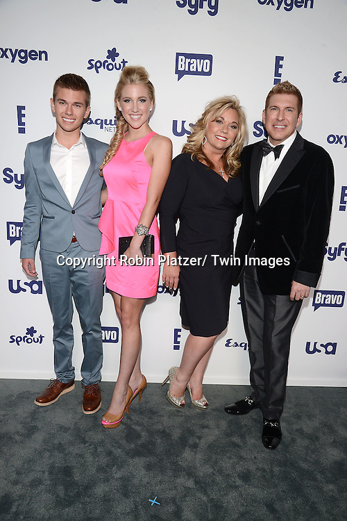 Chase, Savannah, Julie Chrisley and husband Todd Chrisley attend the NBCUniversal Cable Entertainment Upfront <br /> on May 15, 2014 at The Javits Center North Hall in New York City, New York, USA.