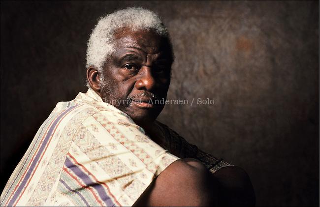 Mazisi Kunene, South African writer.