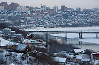 The city of Ufa, Bashkortostan, Russia, is known as the City of 52 Kilometers because of its size. The city, capital of Bashkortostan and the center for the oil and gas industry in the region, has grown rapidly since the fall of the Soviet Union.