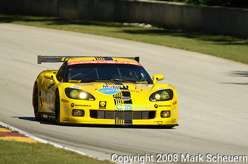 08 August 2008: The Corvette Racing C6.R, driven by Johnny O'Connell (USA) and Jan Magnussen (DNK), at the Generac 500  at Road America, Elkhart Lake, Wisconsin, USA.