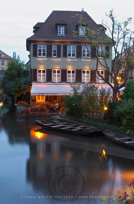 punt boats little venice 'petite venise' colmar alsace france