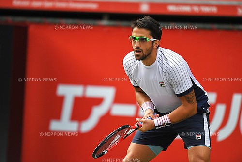 Janko Tipsarevic (SRB), <br /> OCTOBER 6, 2016 - Tennis : Rakuten Japan Open Tennis Championships 2016, <br /> the second round match between <br /> Ivo Karlovic - Janko Tipsarevic <br /> at Ariake Coliseum, Tokyo, Japan. <br /> (Photo by AFLO SPORT)