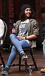 "Sasha Hollinger during the ""Hamilton"" eduHAM Student Matinee Q & A  at the Richard Rodgers Theatre on February 13, 2019 in New York City."