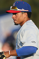 Malvin Mercedes (37) of the Stockton Ports before a game against the Rancho Cucamonga Quakes at LoanMart Field on June 13, 2015 in Rancho Cucamonga, California. Stockton defeated Rancho Cucamonga, 14-2. (Larry Goren/Four Seam Images)