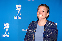 Amsterdam, november 2016, IDFA International Documentary Filmfestival Amsterdam. Premierewand IDFA in de Brakke Grond met: Leonieke Verhoog. Photo Nichon Glerum