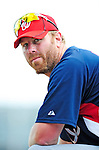 10 March 2010: Washington Nationals' first baseman Adam Dunn awaits his turn in the batting cage prior to a Spring Training game against the St. Louis Cardinals at Roger Dean Stadium in Jupiter, Florida. The Cardinals defeated the Nationals 6-4 in Grapefruit League action. Mandatory Credit: Ed Wolfstein Photo