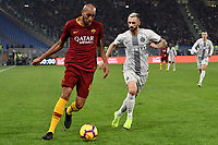 Steven Nzonzi of AS Roma and Marcelo Brozovic of Internazionale compete for the ball during the Serie A 2018/2019 football match between AS Roma and FC Internazionale at stadio Olimpico, Roma, December, 2, 2018 <br />  Foto Andrea Staccioli / Insidefoto