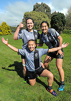 St Mary's players after winning the 2017 1st XV rugby Top Four girls' final between St Mary's College and Hamilton Girls' High School at Sport and Rugby Institute in Palmerston North, New Zealand on Sunday, 10 September 2017. Photo: Dave Lintott / lintottphoto.co.nz