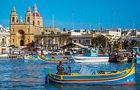 Malta, Marsaxlokk: malerisches Fischerdorf und beliebtes Ausflugsziel | Malta, Marsaxlokk: picturesque fishing village