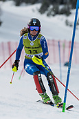 17th March 2018, Àvet Slope, Soldeu, Andorra; FIS Alpine Ski European Cup, Slalom Ladies Finals; #13 SANDULLI elena from ITA during the Giant Slalom Final
