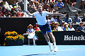 10th January 2018, ASB Tennis Centre, Auckland, New Zealand; ASB Classic, ATP Mens Tennis;  Peter Gojowczyk (GER) during the ASB Classic ATP Men's Tournament Day 3