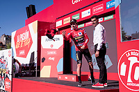 Red jersey for stage winner and new overall leader Primoz Roglic (SVK/Jumbo-Visma)<br /> <br /> stage 10 (ITT): Jurançon to Pau (36.2km > in FRANCE)<br /> La Vuelta 2019<br /> <br /> ©kramon