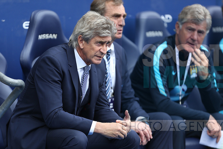 Manuel Pellegrini, manager of Manchester City - Manchester City vs Watford - Barclay's Premier League - Etihad Stadium - Manchester - 29/08/2015 Pic Philip Oldham/SportImage