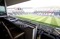 View from corporate suite beforethe first MLS match at PPL stadium in Chester, Pa. on June 27 2010. Union won 3-1.