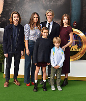 "WESTWOOD, CA - JANUARY 11: Director/Co-writer Stephen Gaghan (2nd from R back row) and family attend the Premiere of Universal Pictures' ""Dolittle"" at Regency Village Theatre on January 11, 2020 in Westwood, California.<br /> CAP/ROT/TM<br /> ©TM/ROT/Capital Pictures"