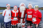 Attending the Santa Fun run in memory of Fiona Moore, in the Tralee Bay Wetlands on Sunday. L to r: Eileen Walsh, Joan Keane, Santa, Majella Stack and Margaret Cahill all from Listowel