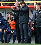 03.03.2019 Aberdeen v Rangers: Steven Gerrard raging as Daniel Candeias is caught offside