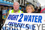 John O'Sullivan and Marie Anne Sademe Castleisland marching at the Right2Water protest in Killarney on Saturday