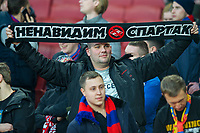 CSKA Moscow supporters before the UEFA Europa League QF 1st leg match between Arsenal and CSKA Moscow  at the Emirates Stadium, London, England on 5 April 2018. Photo by Andrew Aleksiejczuk / PRiME Media Images.