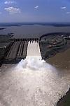 Iguassu, Brazil. Itaipu hydroelectric dam seen from the air.