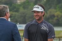 Bubba Watson (USA) is all smiles prior to the trophy presentation following day 5 of the World Golf Championships, Dell Match Play, Austin Country Club, Austin, Texas. 3/25/2018.<br /> Picture: Golffile | Ken Murray<br /> <br /> <br /> All photo usage must carry mandatory copyright credit (&copy; Golffile | Ken Murray)