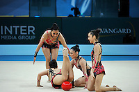 August 31, 2013 - Kiev, Ukraine - Rhythmic group from Chile performs at 2013 World Championships.