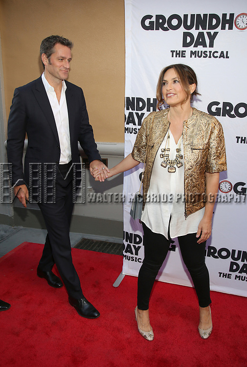 Peter Hermann and Mariska Hargitay attend the Broadway Opening Night performance of 'Groundhog Day' at the August Wilson Theatre on April 17, 2017 in New York City