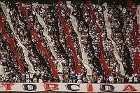 SAO PAULO, SP, 18.09.2013 -  CAMP. BRASILEIRO - SAO PAULO FC X ATLETICO MG - Torcida do Sao Paulo durante partida contra o Atlético Mineiro jogo pelo Campeonato Brasileiro 2013 no Estadio Cicero Pompeu de Toledo, o Morumbi, na noite desta quarta-feira, 18. (Foto: William Volcov / Brazil Photo Press).