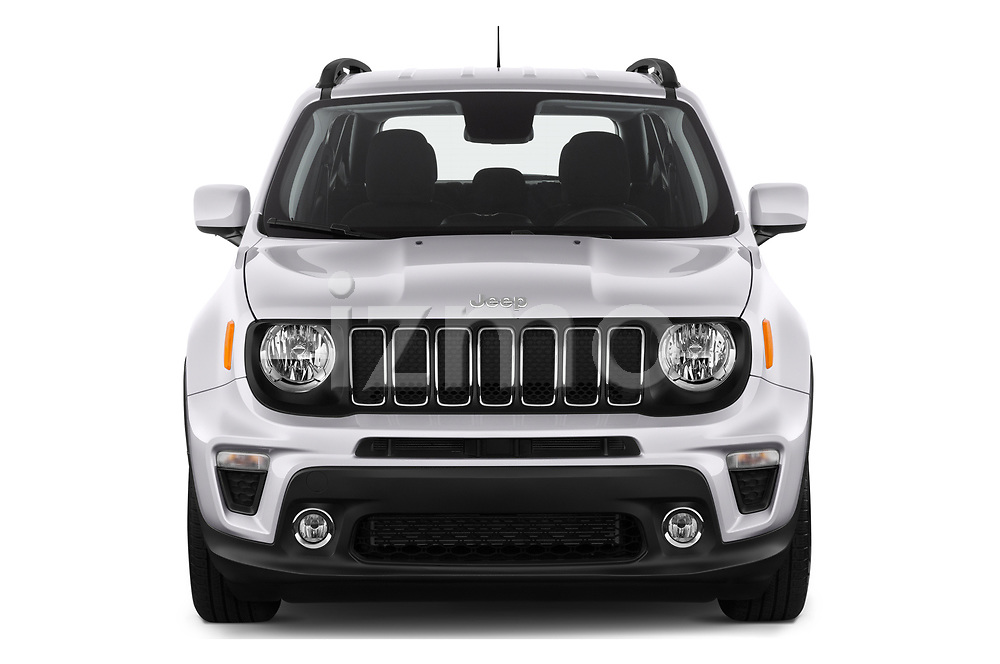 Car photography straight front view of a 2019 JEEP Renegade Latitude 5 Door SUV Front View