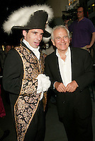 Sir Ian Holm with Napoleon at &quot;The Emperor's New Clothes&quot; premiere at the French Institute/Alliance Francaise in New York City. June 10, 2002. <br /> Photo: Evan Agostini/PictureGroup