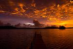 Pier at sunrise, Kapa Island, Vava'u, Tonga