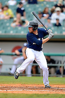 New Orleans Zephyrs catcher Jake Jefferies #8 during a game against the Round Rock Express on April 15, 2013 at Zephyr Field in New Orleans, Louisiana.  New Orleans defeated Round Rock 3-2.  (Mike Janes/Four Seam Images)