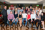 Patrick Patch Sullivan from Beaufort celebrated his 30th birthday surrounded by friends and family in the Sportsmans Bar, Killarney last Saturday night.