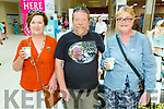Elenor Enright (Listowel), Graham Gardiner and Geraldine Nevilles (Listowel), enjoying the Manor West Food and Crafts Fair in Manor on Saturday.
