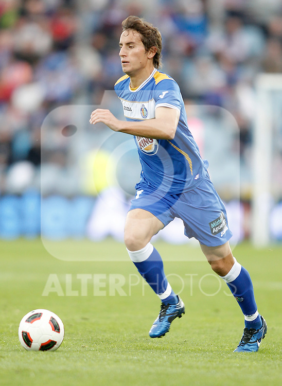Getafe's Pedro Mosquera during La Liga match. October 24, 2010. (ALTERPHOTOS/Alvaro Hernandez)