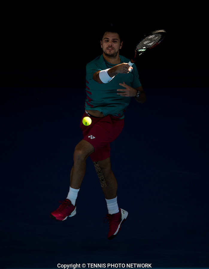 STAN WAWRINKA (SUI)<br /> <br /> TENNIS , AUSTRALIAN OPEN,  MELBOURNE PARK, MELBOURNE, VICTORIA, AUSTRALIA, GRAND SLAM, HARD COURT, OUTDOOR, ITF, ATP, WTA<br /> <br /> &copy; TENNIS PHOTO NETWORK