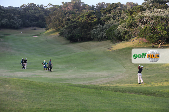Jeev Milkha Singh (IND) plays down the 9th during Round One of the Africa Open 2015 at the East London Golf Club, East London, Eastern Cape, South Africa. Picture:  David Lloyd / www.golffile.ie. 05/03/2015