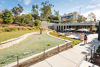 Exterior patio area of the Hameetman Career Center, home of Career Services, National and International Fellowships and Pre-Health Advising. Nov. 17, 2017.<br />