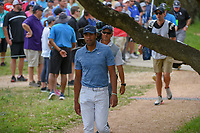 Tony Finau (USA) makes his way to the tee on 2 during day 2 of the Valero Texas Open, at the TPC San Antonio Oaks Course, San Antonio, Texas, USA. 4/5/2019.<br /> Picture: Golffile | Ken Murray<br /> <br /> <br /> All photo usage must carry mandatory copyright credit (&copy; Golffile | Ken Murray)