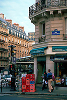 A French street scene. Paris, France.