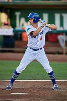 Mitchell Hansen (11) of the Ogden Raptors bats against the Orem Owlz at Lindquist Field on September 2, 2017 in Ogden, Utah. Ogden defeated Orem 16-4. (Stephen Smith/Four Seam Images)