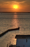 Sunset over the Currituck Sound from the west side of the Outer Banks, North Carolina