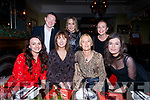 Staff from O'Neill's All Care Pharmacy Cahersiveen on their Christmas Party night out in Eva's Bar & Restaurant Cahersiveen on Saturday night, pictured here front l-r; Danielle O'Sullivan, Rose Dillon, Sally O'Sullivan, Bridget Sheehan, back l-r; Shane & Janet O'Neill with Karen O'Shea.